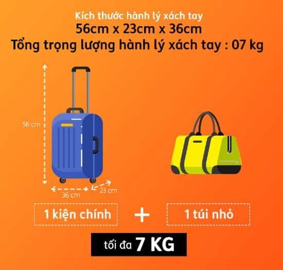Quy định hành lý của Pacific Airlines