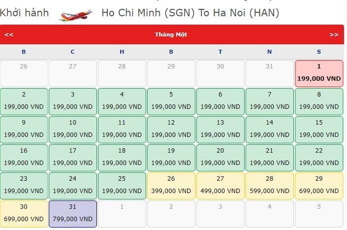 chặng Hồ Chí Minh - Hà Nội